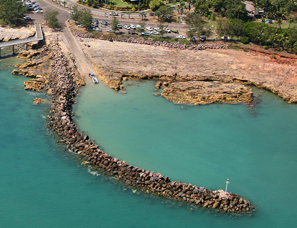 aerial image of nightcliff boat ramp and the surrounding area