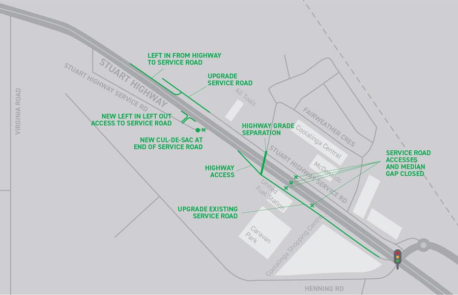 Coolalinga traffic solution option 2