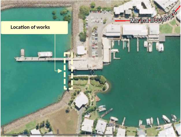 Cullen Bay Sheet Pile Walls Refurbishment location of works