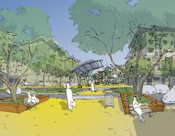 John Stokes Square Redevelopment artists impression