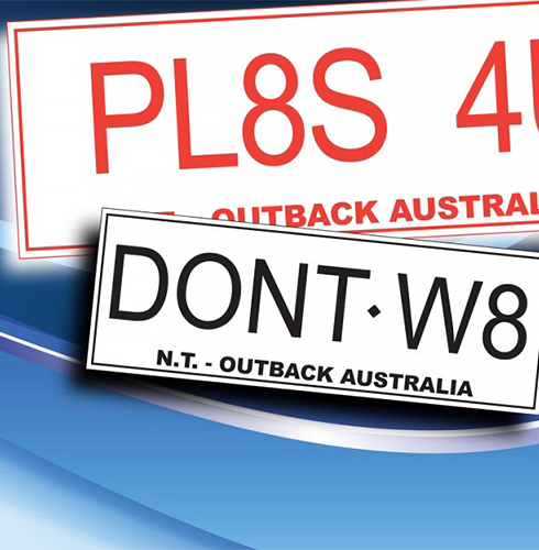 Order personalized number plates online