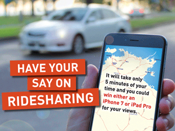 Have your say on Ridesharing