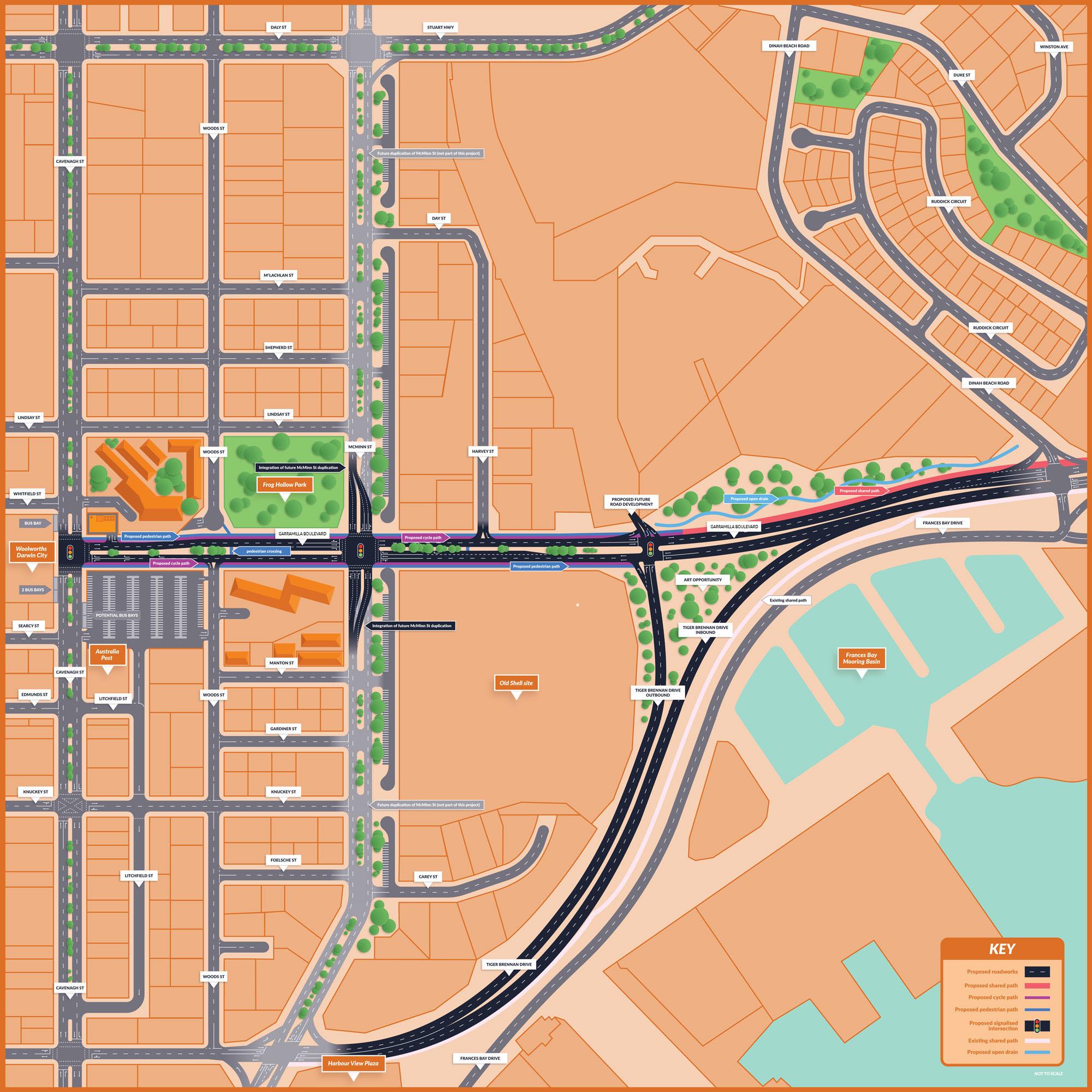 Map of Garramilla Boulevard