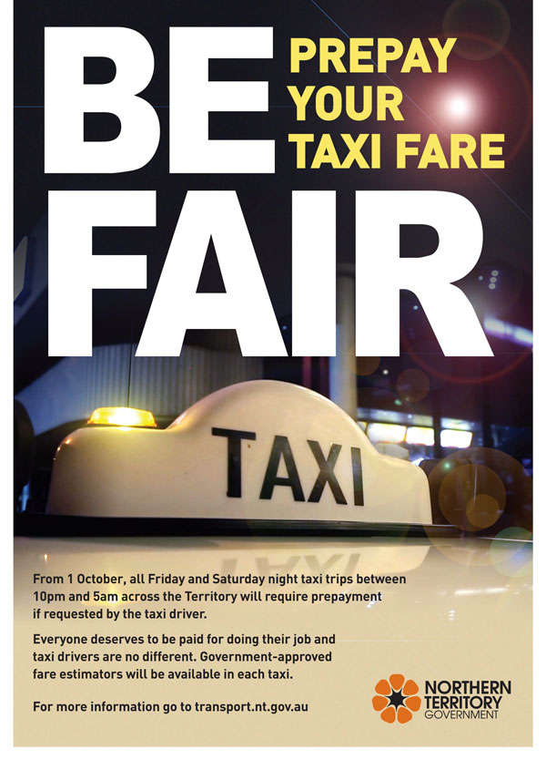 Be fair prepay your taxi